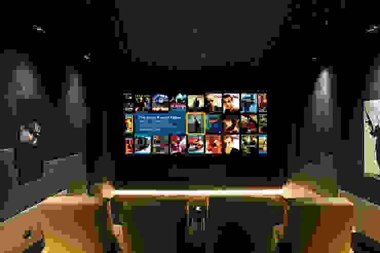 Salas de entretenimiento de estilo  por Finite Solutions, Moderno