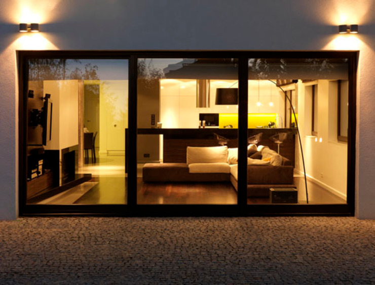 Dom Ursus Minimalistyczny salon od living box Minimalistyczny