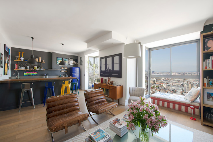 Eclectic style living room by Hélène de Tassigny Eclectic