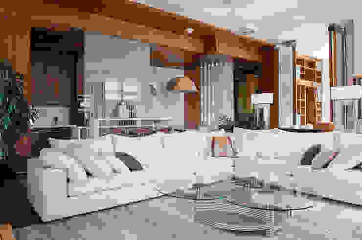 Квартира в Москве для молодого человека. Гостиные в эклектичном стиле от Студия экспериментального проектирования 'Rakurs' Эклектичный