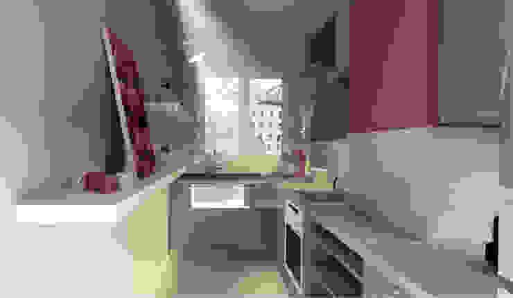 3D de la cuisine Cuisine moderne par Chloé Bouvier | Architecte d'intérieur CFAI Moderne