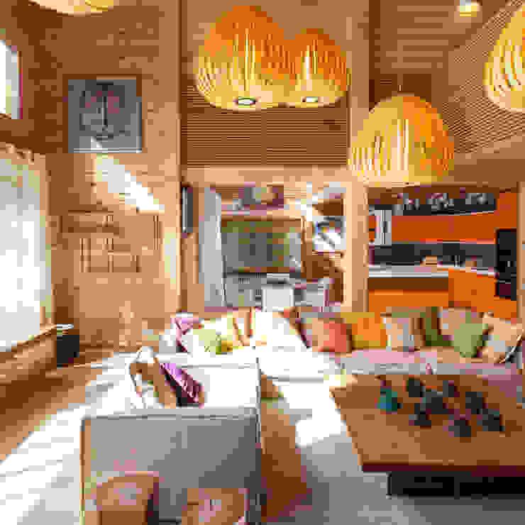 Студия экспериментального проектирования 'Rakurs' Eclectic style living room