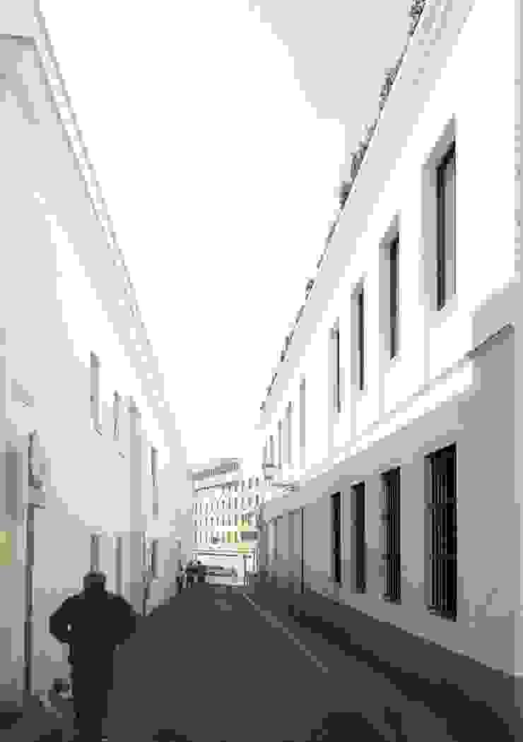 Fachada principal lacooperativaarquitectos Casas de estilo clásico