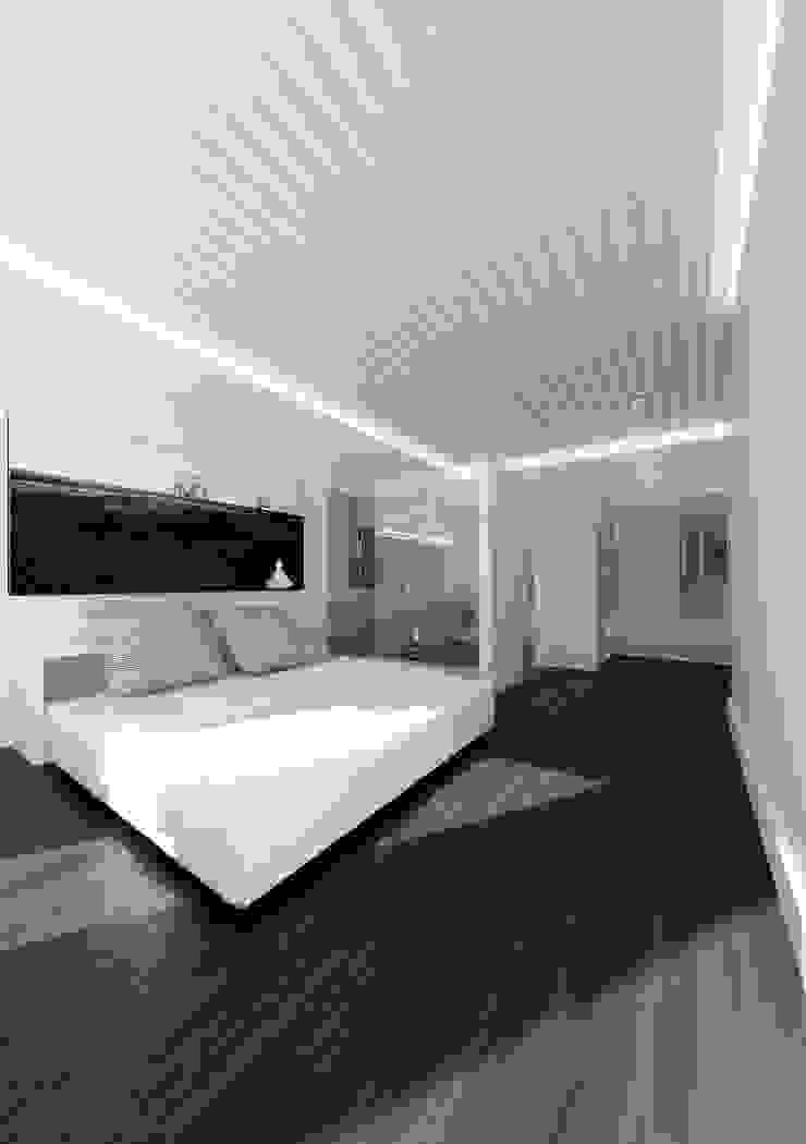 Habitación principal lacooperativaarquitectos Dormitorios de estilo moderno