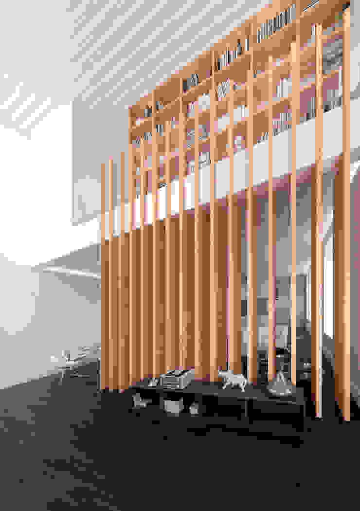 Atrio de entrada lacooperativaarquitectos Salones de estilo moderno