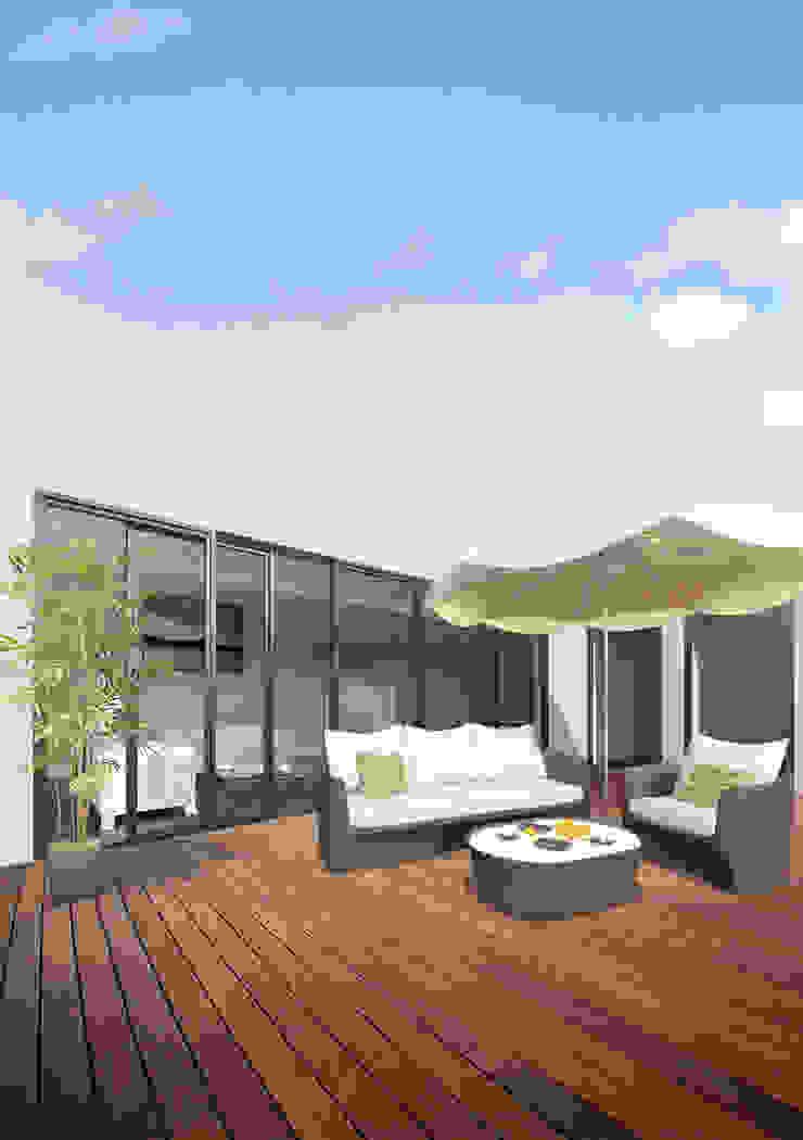 Terraza del ático lacooperativaarquitectos Balcones y terrazas de estilo moderno