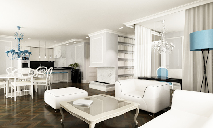 Salon Klasyczny salon od living box Klasyczny