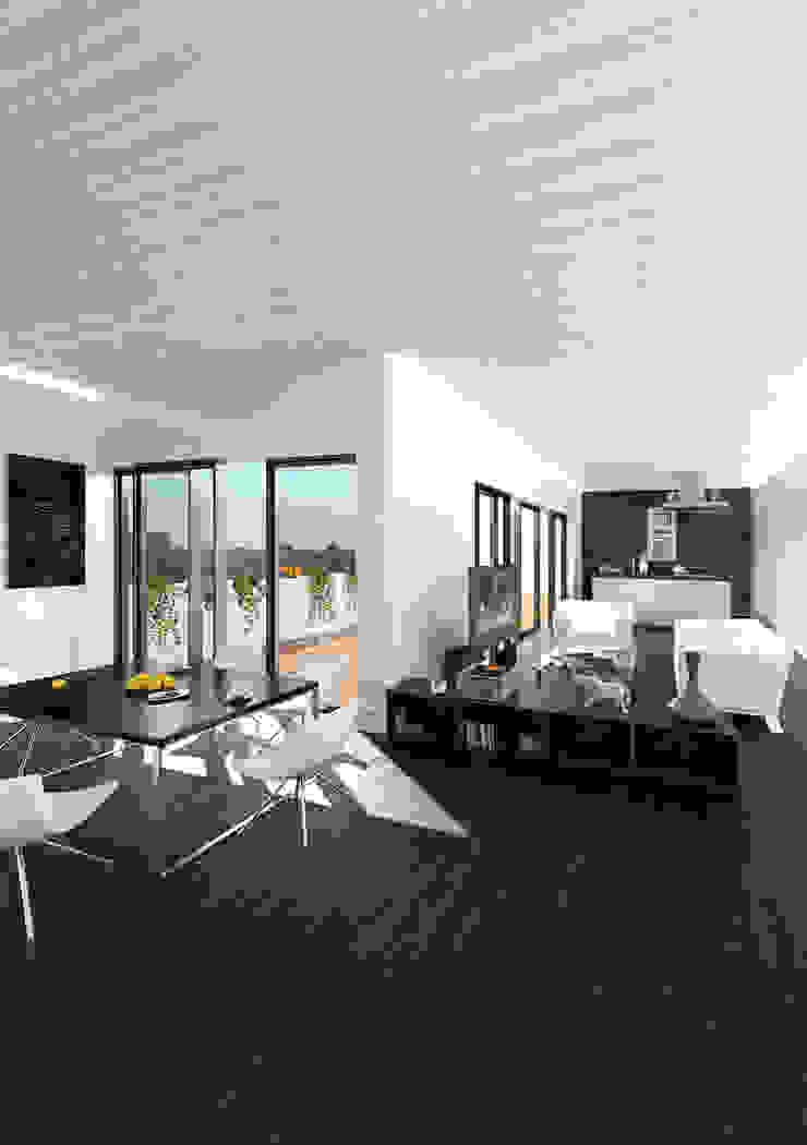 Salón-Comedor lacooperativaarquitectos Salones de estilo moderno