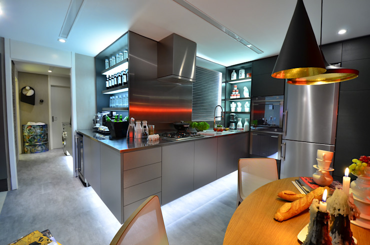The Live-In Kitchen Cuisine industrielle par Studio Cinque Industriel