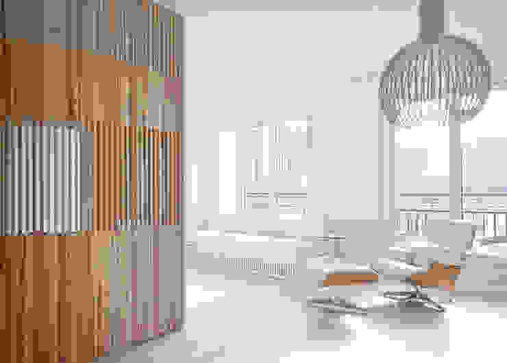 Flat N°4. A small ap Ruang Keluarga Modern Oleh Julien Joly Architecture Modern