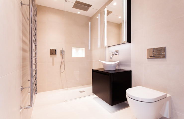 Cutting Edge Bathrooms and Bespoke Joinery for the House in Dulwich Modern bathroom by Temza design and build Modern