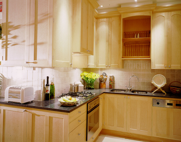 Observatory Gardens maple kitchen by Tim Wood Tim Wood Limited Cocinas de estilo moderno