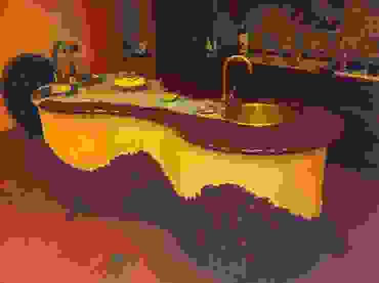 tavernetta area cucina antonio giordano architetto Sala multimediale moderna