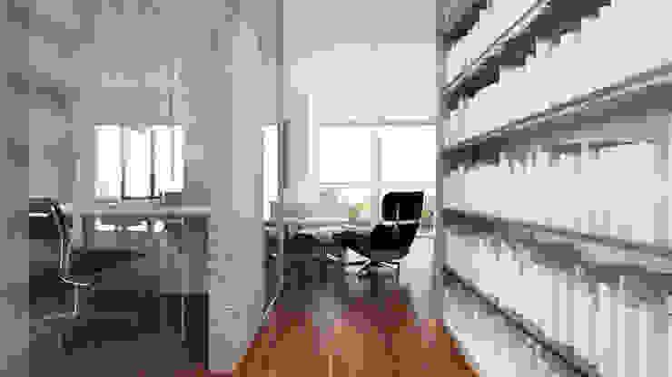 Pasillos, halls y escaleras minimalistas de living box Minimalista