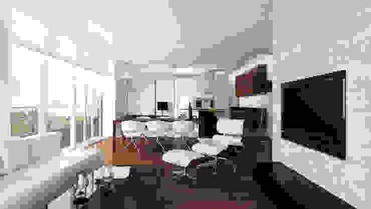 Salon Minimalistyczny salon od living box Minimalistyczny