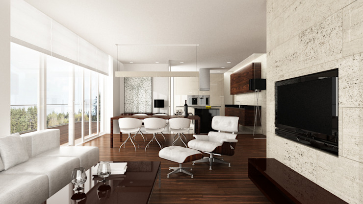 Minimalistische woonkamers van living box Minimalistisch