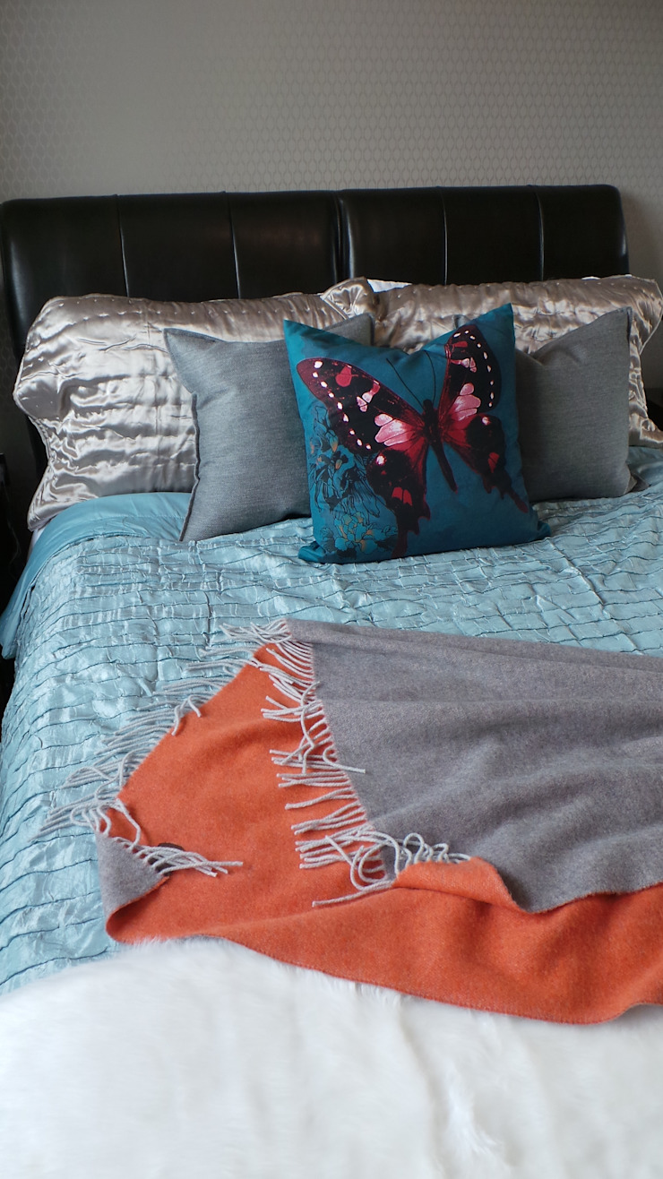 Master Bedroom Soft furnishings Modern Bedroom by Eva Antoniou Interior Design Modern