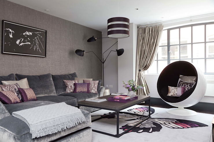 West End Apartment Modern living room by Nicola Holden Designs Modern