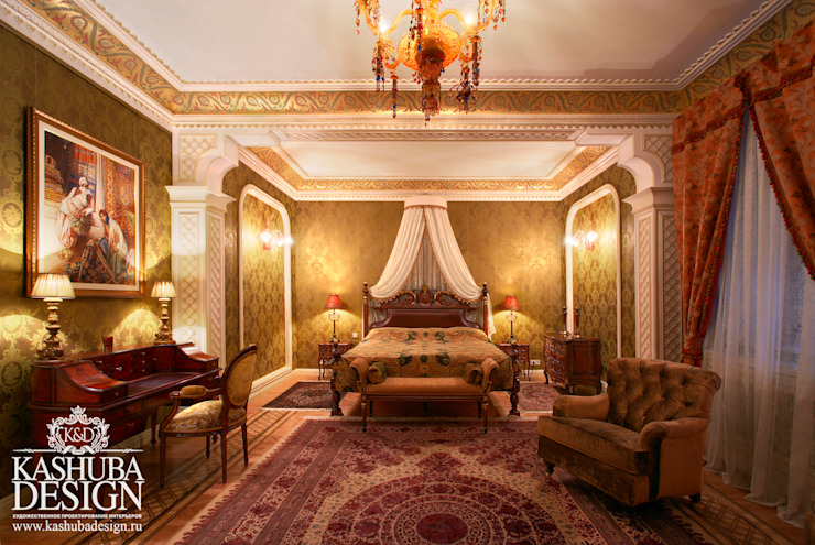 Дом космополит Спальня в классическом стиле от KASHUBA DESIGN Классический