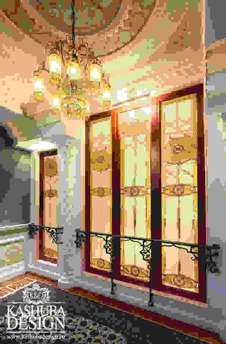 Дом космополит Коридор, прихожая и лестница в классическом стиле от KASHUBA DESIGN Классический