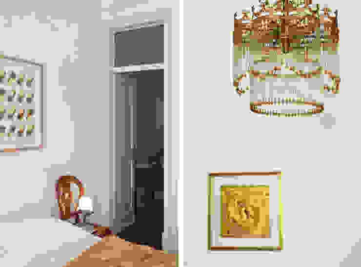 Apartamento Saldanha_Reabilitação Arquitectura + Design Interiores Quartos ecléticos por Tiago Patricio Rodrigues, Arquitectura e Interiores Eclético