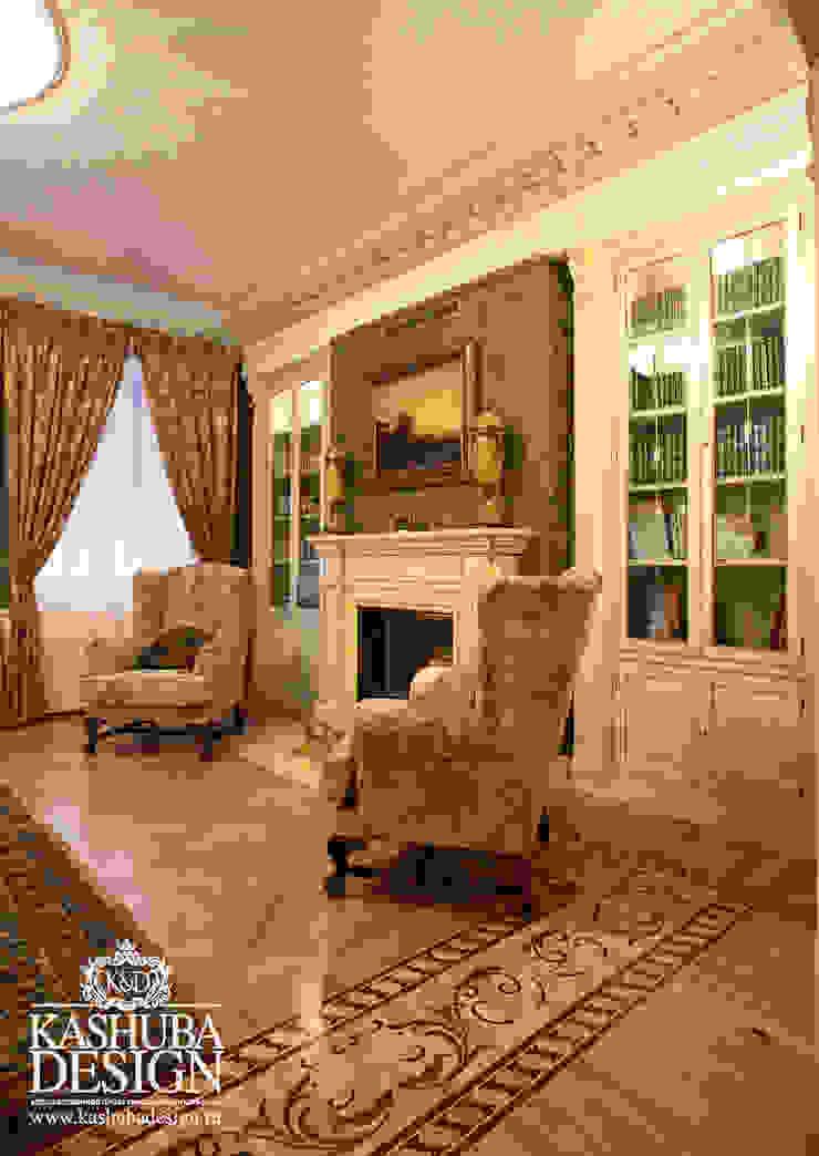 Дом космополит Гостиная в классическом стиле от KASHUBA DESIGN Классический