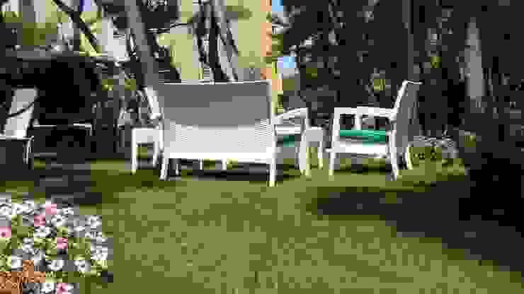 sihirli peyzaj bahçe tasarım proje uygulamaları Akdeniz Balkon, Veranda & Teras Sihirli Peyzaj Akdeniz
