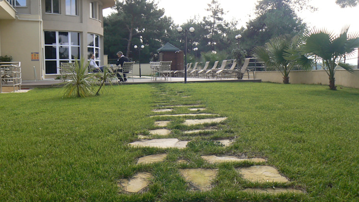 sihirli peyzaj bahçe tasarım proje uygulamaları Modern Balkon, Veranda & Teras Sihirli Peyzaj Modern