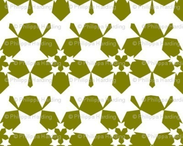 Starflower Reverse - Moss : eclectic  by Court & Spark, Eclectic