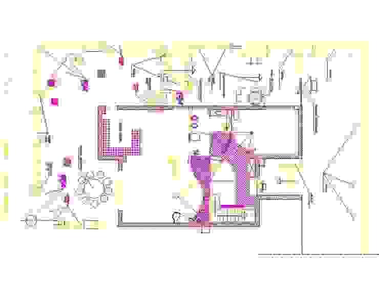progetto controsoffitte p. rialzato antonio giordano architetto Soggiorno moderno