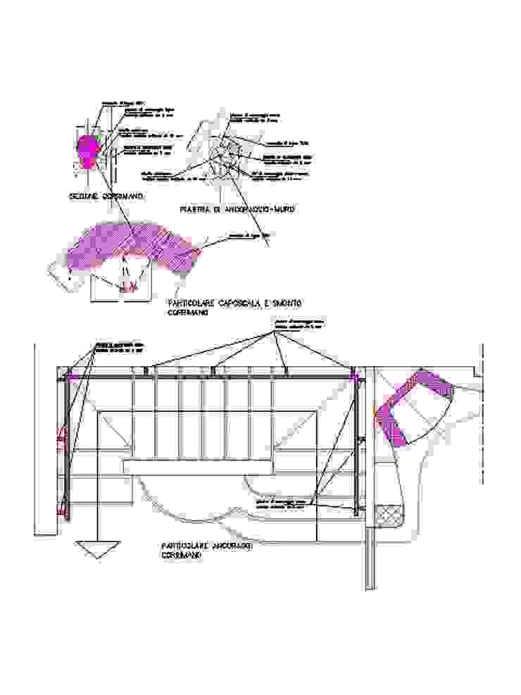 paricolare scale interne antonio giordano architetto Ingresso, Corridoio & Scale in stile moderno