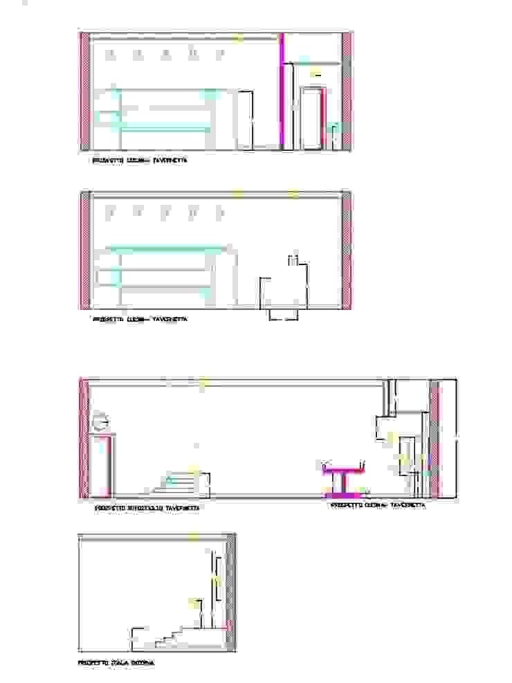 progetto tavernetta antonio giordano architetto Sala multimediale moderna