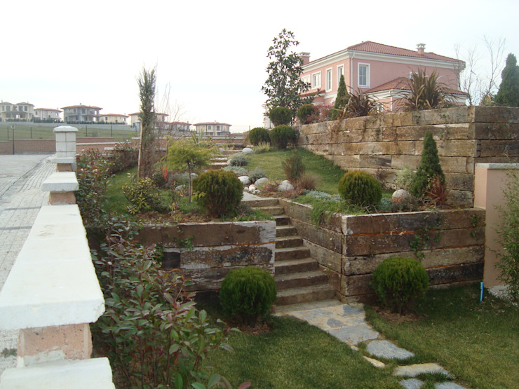 İstanbul -Kemerburgaz Modern Bahçe Çisem Peyzaj Tasarım Modern