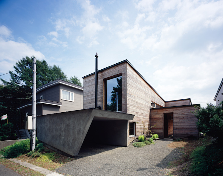 par 合同会社永田大建築設計事務所 Moderne Bois Effet bois