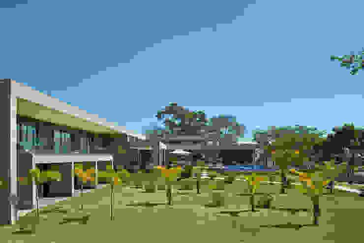 Jardins, Casa Amendoeiras. Jardins modernos por Beth Marquez Interiores Moderno