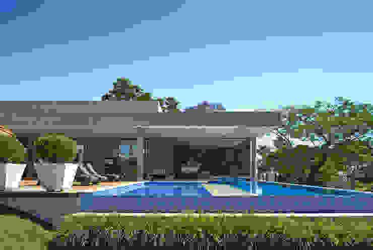 Piscina, Casa Amendoeiras. Piscinas modernas por Beth Marquez Interiores Moderno