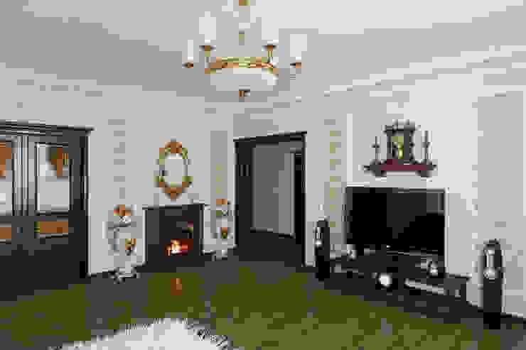 Неоклассика в гостиной Гостиная в классическом стиле от Москоу Дизайн Классический