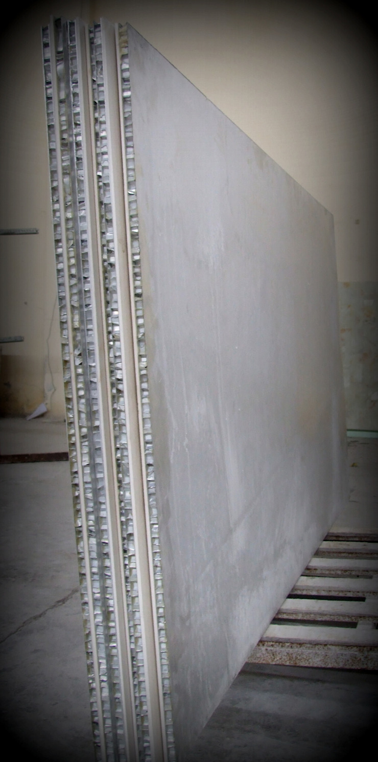 Lamına Stone – Lightweight Stone Panel with Aluminum Honeycomb: modern tarz , Modern