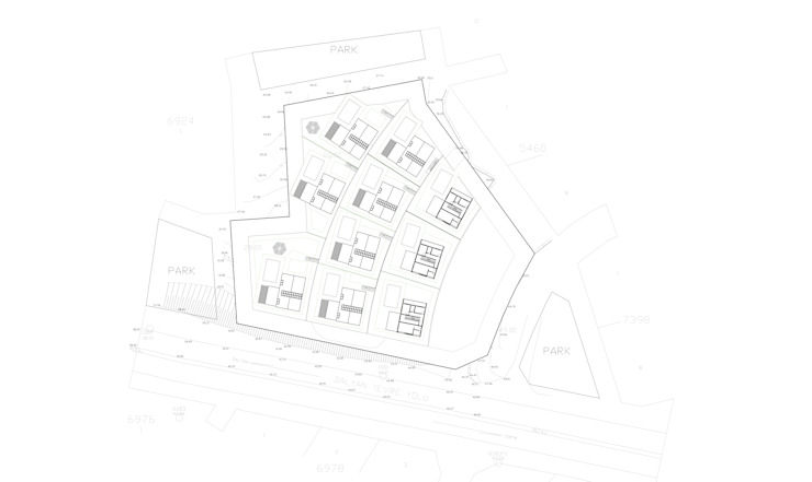 Lea Çeşme Houses Modern Evler GOOA|GLOBAL OFFICE OF ARCHITECTURE Modern