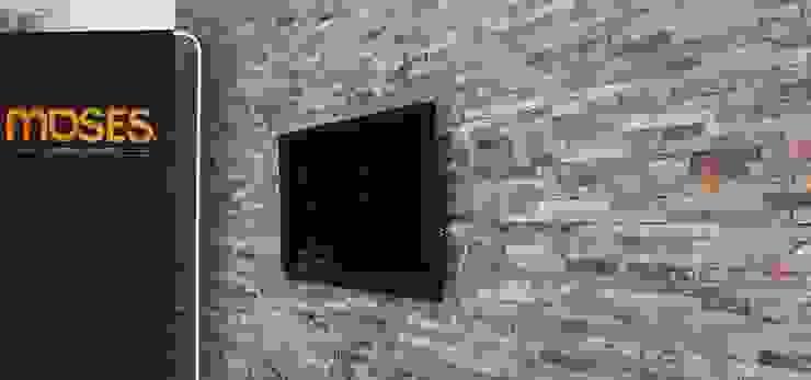 Wand in welkomsthal Moderne kantoor- & winkelruimten van Xcel Stones Modern