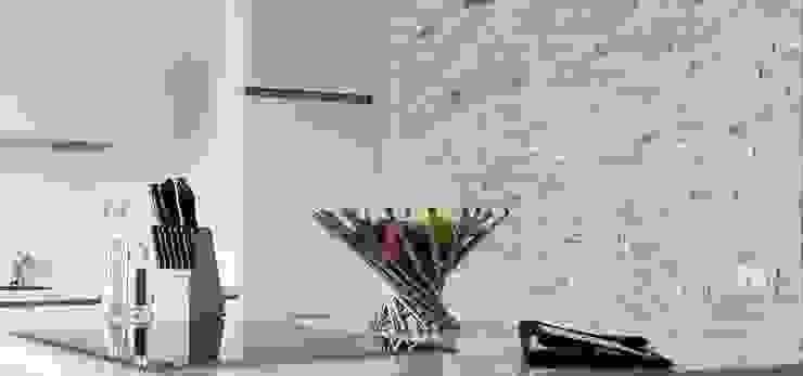Accentwand in keuken met keukeneiland Moderne keukens van Xcel Stones Modern
