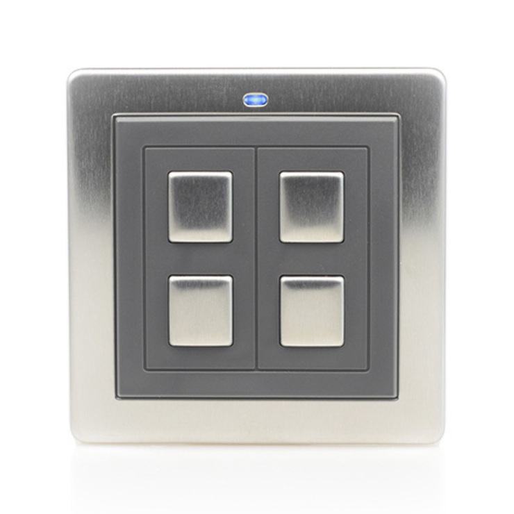 LIGHTWAVERF 2 GANG WIRE-FREE SWITCH (STAINLESS STEEL): modern  by DirectTradeSupplies, Modern