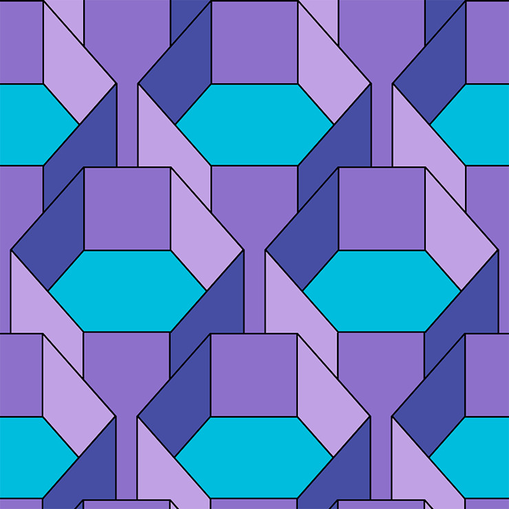 Hexa-Gone 1 wallpaper: modern  by quirk and rescue, Modern