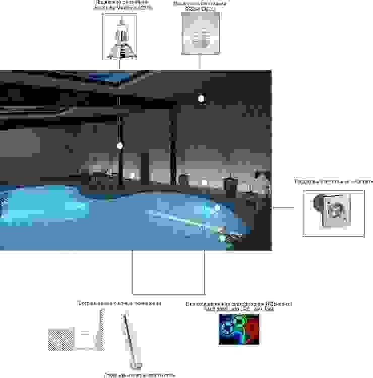 Визуализация бассейна. от Москоу Дизайн Минимализм