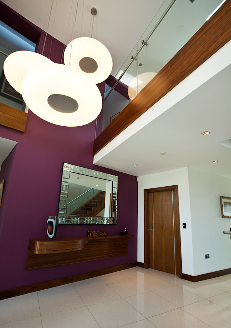 The Cliff—Jersey Modern corridor, hallway & stairs by Nethaus Ltd Modern