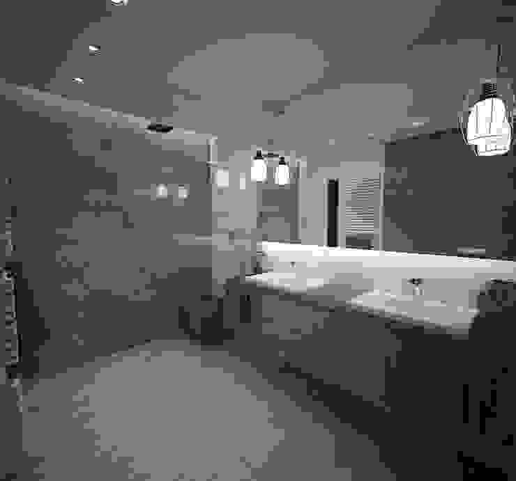 Łazienka Minimalistyczna łazienka od living box Minimalistyczny