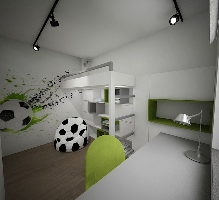 Pokój dziecięcy Minimalistyczny pokój dziecięcy od living box Minimalistyczny