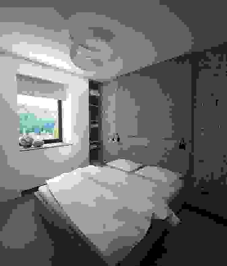 Sypialnia Minimalistyczna sypialnia od living box Minimalistyczny