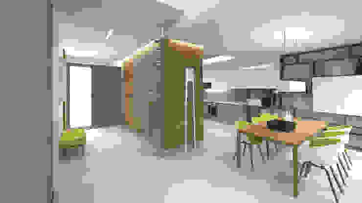 Minimalist dining room by KRY_ Minimalist