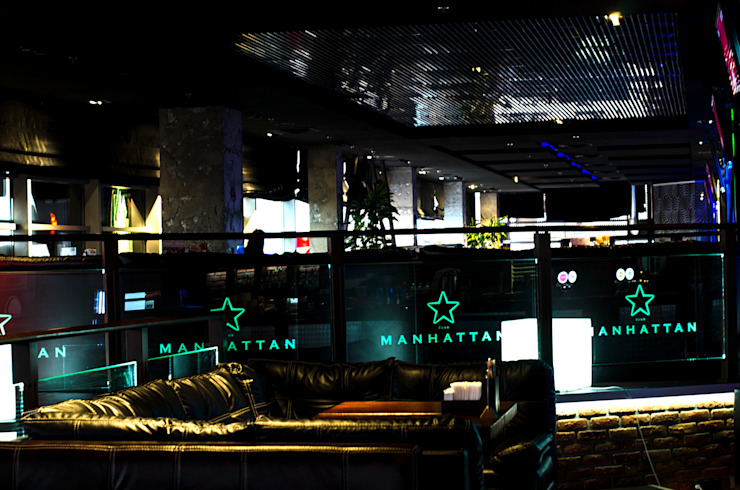Ресторан Manhattan, ТРЦ Lubava Бары и клубы в стиле лофт от UKRINTEL Лофт